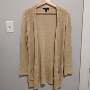 Knitted Cream Open Cardigan